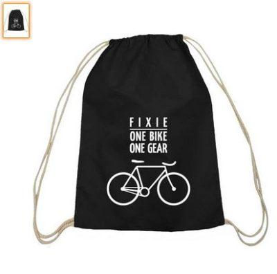 Fixie - One Bike, Singlespeed Fahrrad Turnbeutel